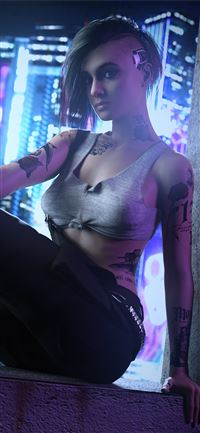 judy alvarez from cyberpunk 2077 game 4k iPhone 11 wallpaper