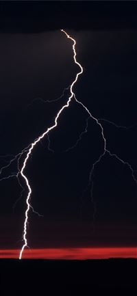 lightning night clouds iPhone 11 wallpaper