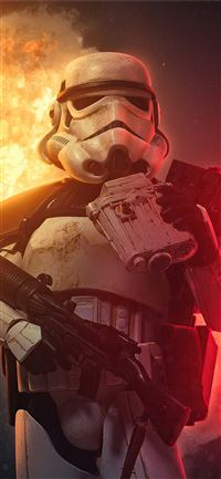 stormtrooper explosion 4k iPhone 11 wallpaper