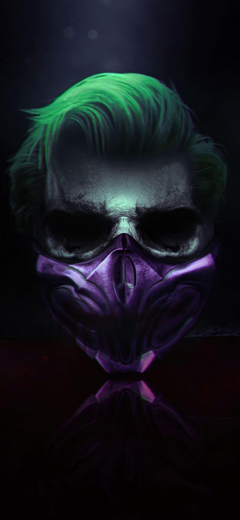 4k Joker Mask Iphone 11 Wallpapers Free Download