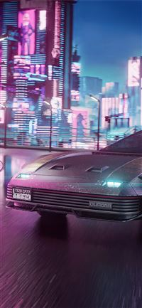 quadra v tech cyberpunk 2077 4k iPhone 11 wallpaper