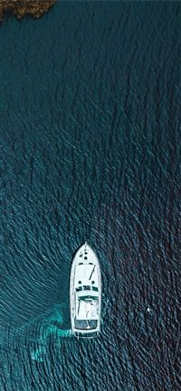 boat aerial view from sky iPhone 11 wallpaper