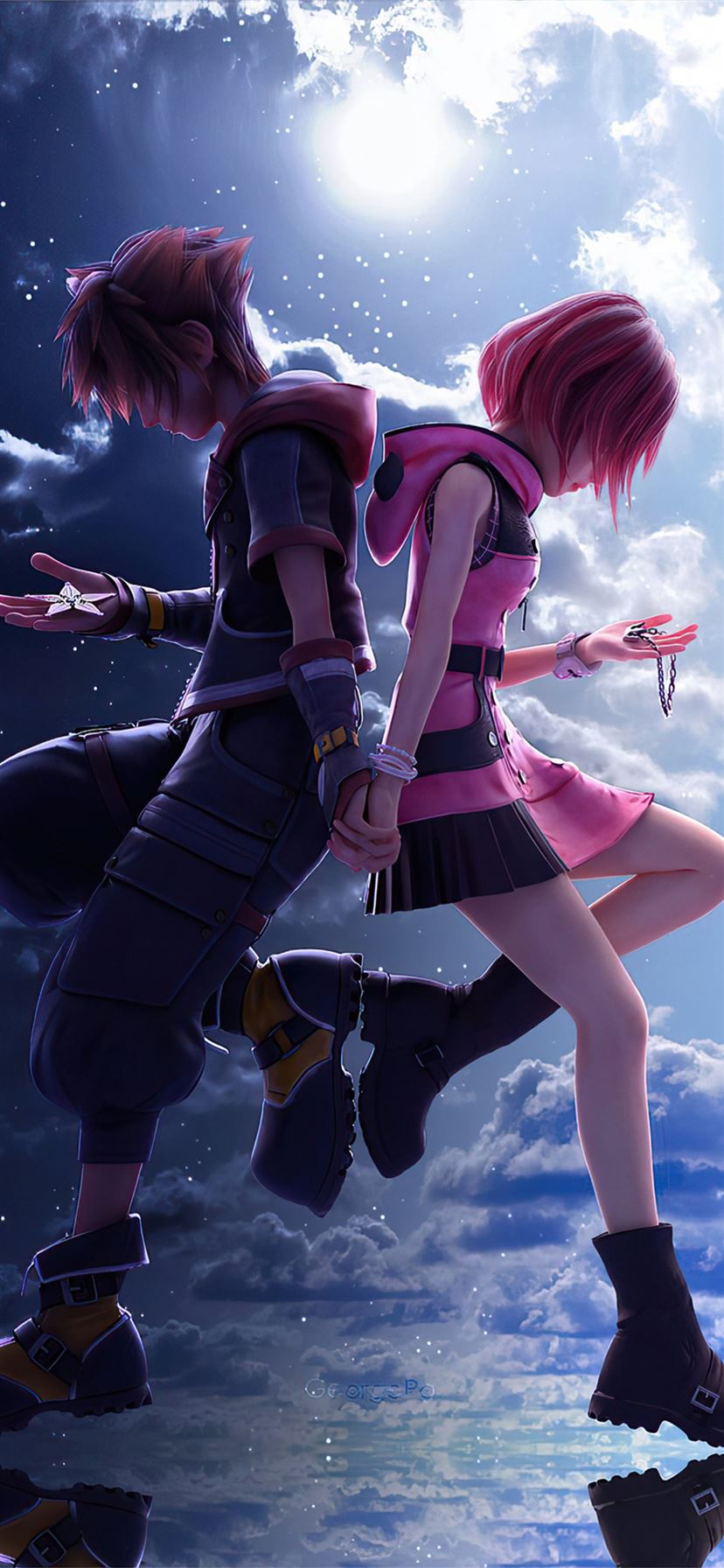 Kingdom Hearts 3 Sora And Kaira 4k Iphone 11 Wallpapers Free Download