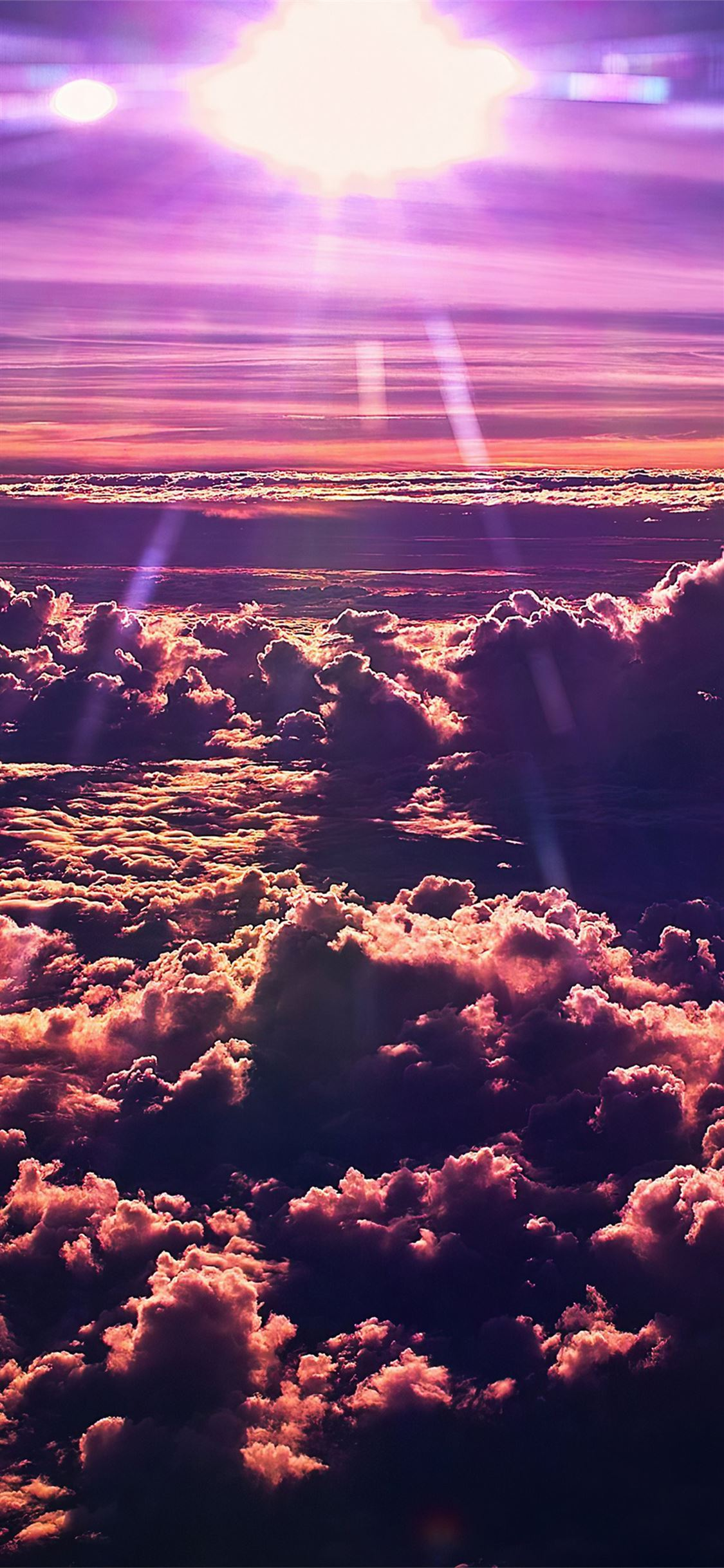 sky clouds sun 4k iPhone 11 Wallpapers Free Download