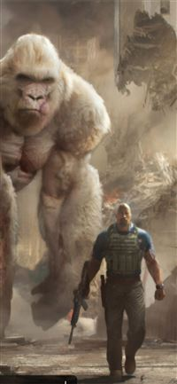 rampage movie art iPhone 11 wallpaper