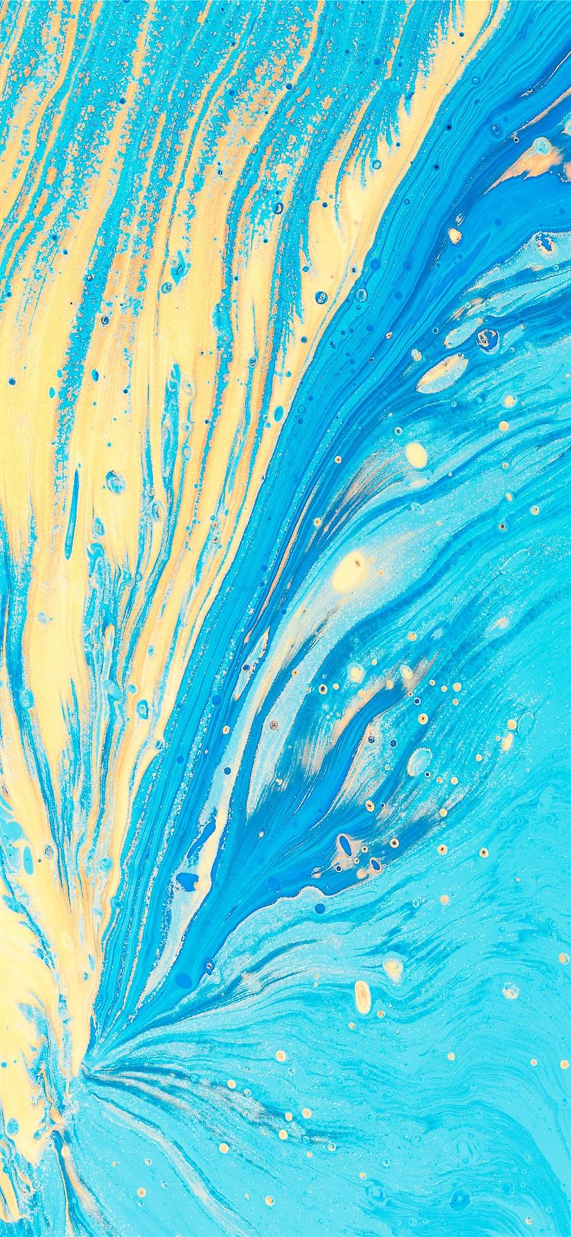 Blue And Yellow Abstract Artwork Iphone X Wallpapers Free Download