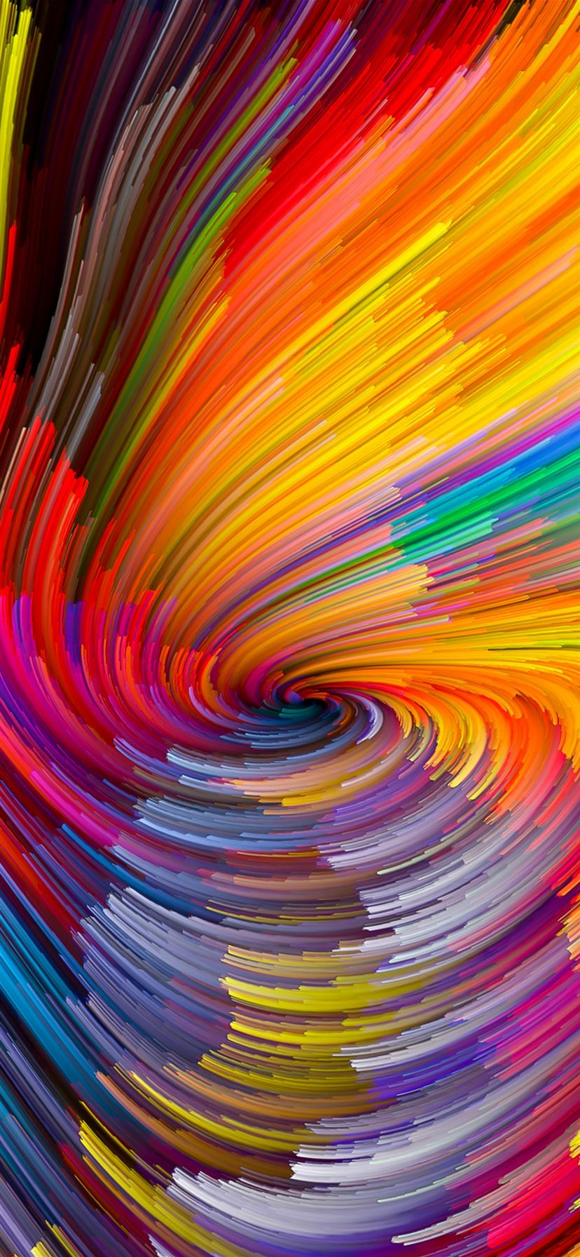 Digital Abstract Line Color Rainbow Pattern Background