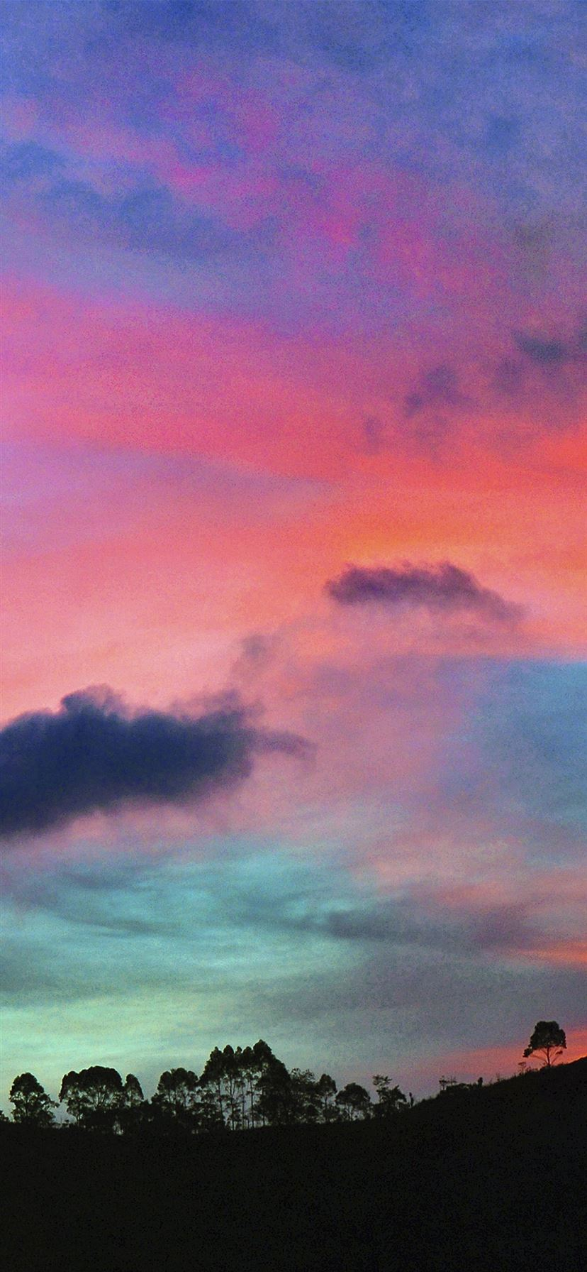 Sky Rainbow Cloud Sunset Iphone 11 Wallpapers Free Download