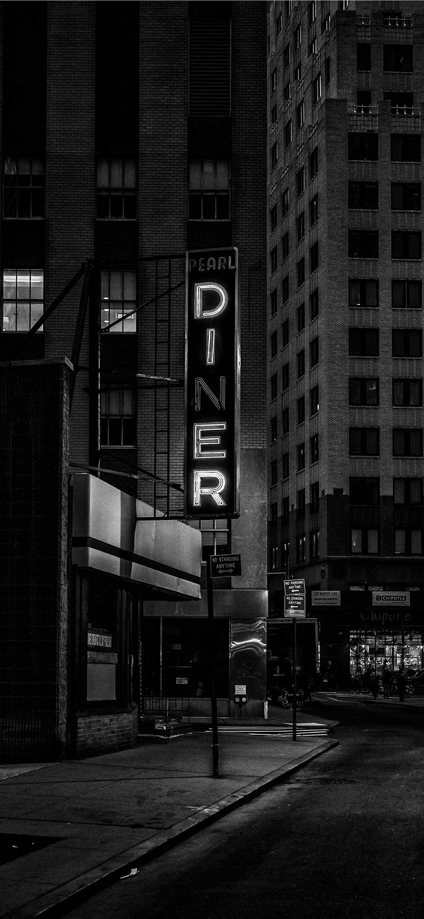 Diner Sign Financial District Iphone 11 Wallpapers Free Download