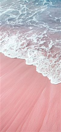 pink wawes iPhone 11 wallpaper