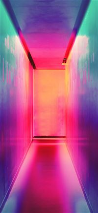multicolored hallway iPhone 11 wallpaper