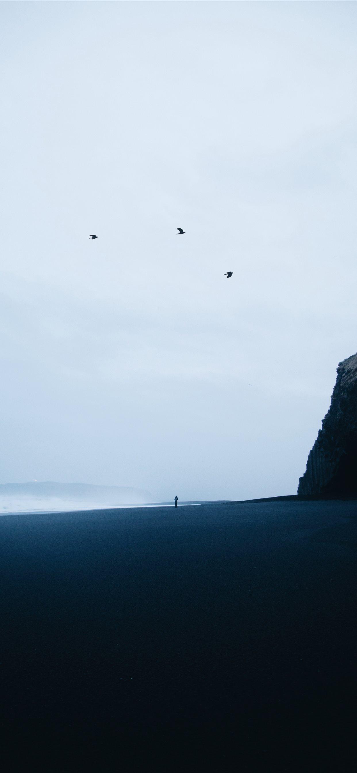 reynisfjara black sand beach iphone