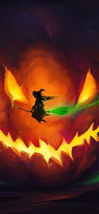 halloween witch 4k iPhone 11 wallpaper