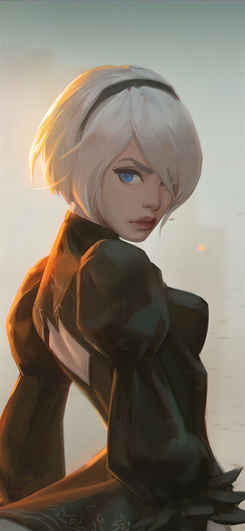 Fan Art Of 2b From Nier Iphone 11