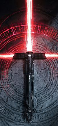 kylo ren lightsaber iPhone 11 wallpaper
