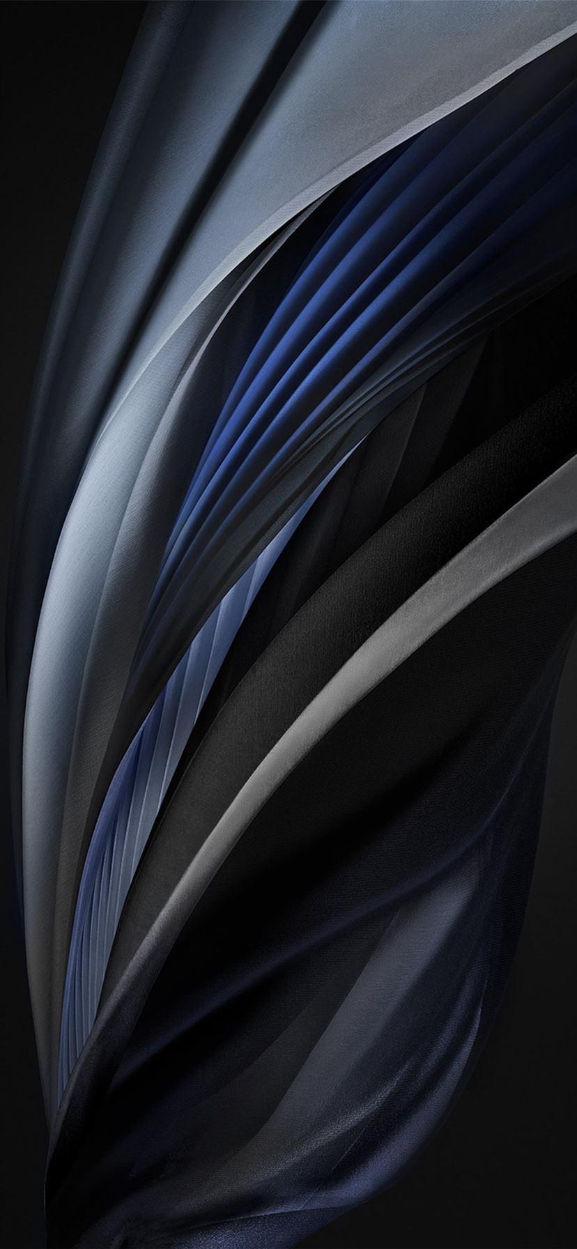 iphone se 2020 stock wallpaper Silk Silver Mono Dark ...