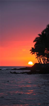 Big Island Sunset Hawaii iPhone 11 wallpaper
