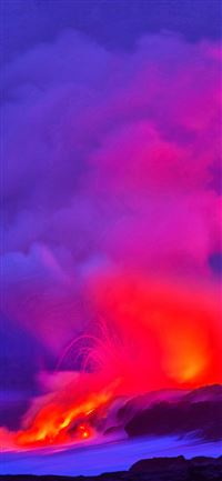 Ultra HD 4K hawaii volcano sparks Samsung Galaxy A... iPhone 11 wallpaper