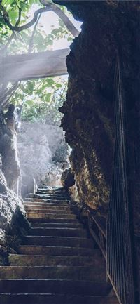 hidden light bali and stair hd 4k and background iPhone 11 wallpaper