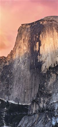 Half Dome Yosemite valley national park nature iPhone 11 wallpaper