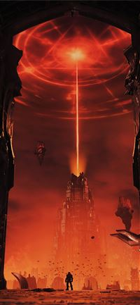 doom eternal video game 4k iPhone 11 wallpaper
