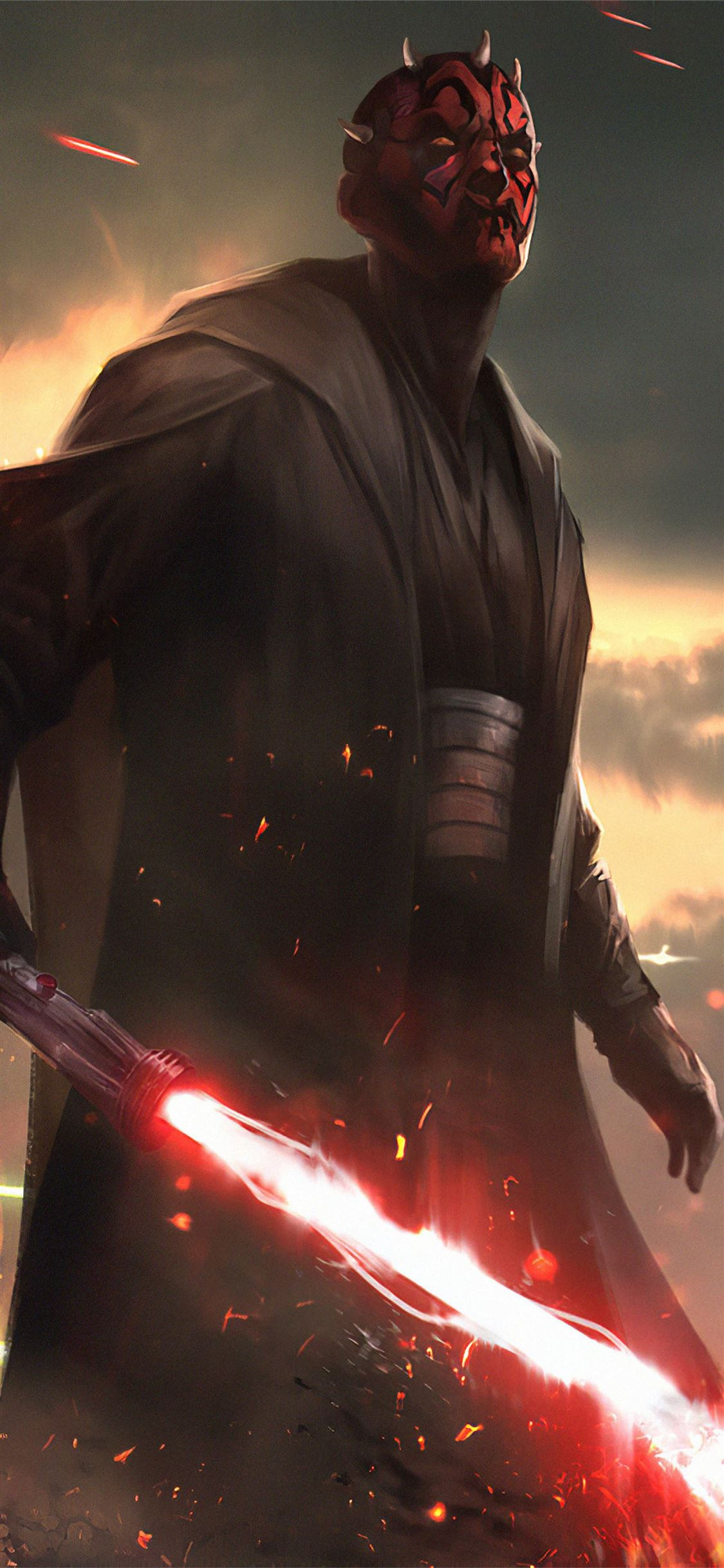 Darth Maul Star Wars Fanartwork Iphone 11 Wallpapers Free Download