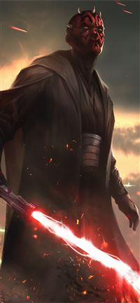 darth maul star wars fanartwork iPhone 11 wallpaper