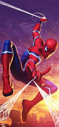 spider man marvel contest of champions iPhone 11 wallpaper
