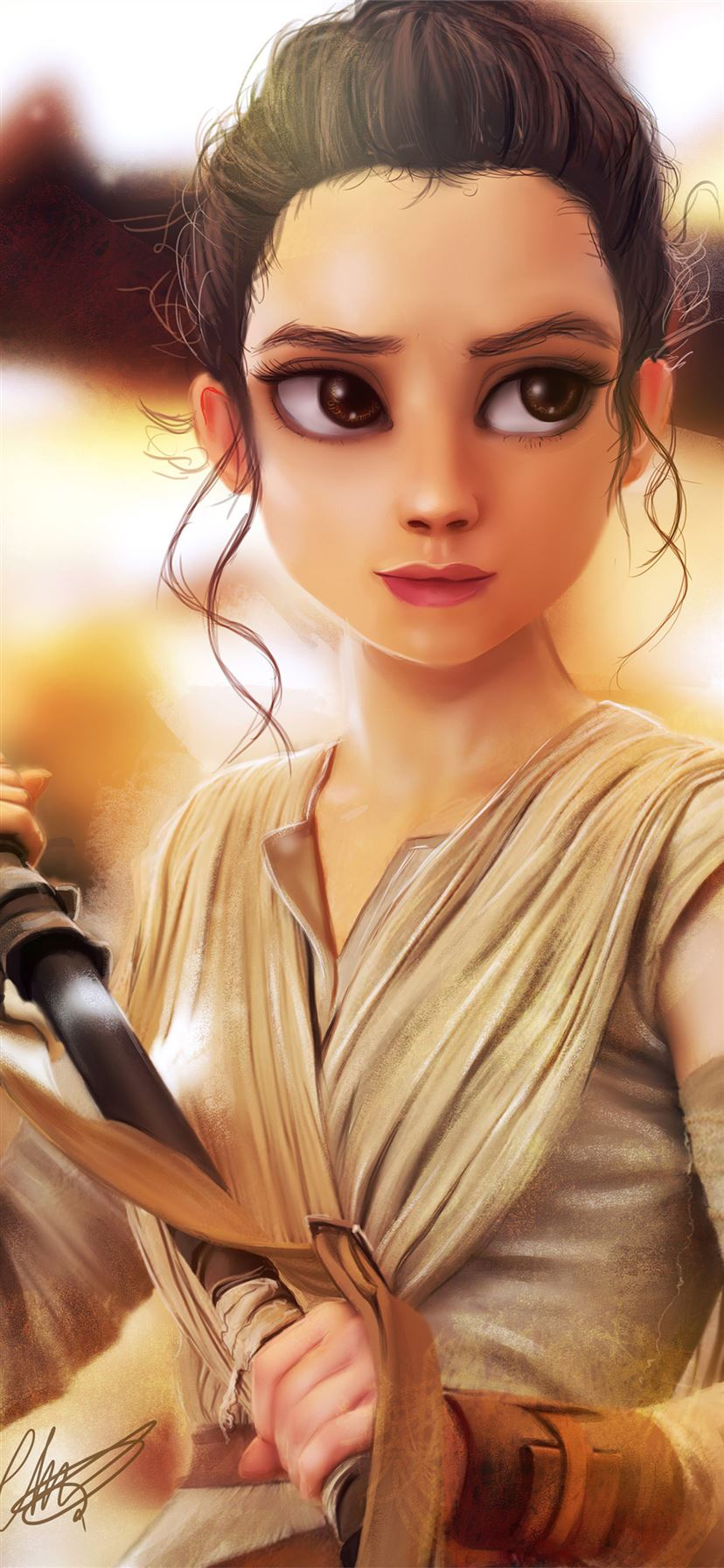 Rey Star Wars Art 4k Iphone 11 Wallpapers Free Download