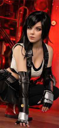 tifa lockhart cosplay 4k iPhone 11 wallpaper