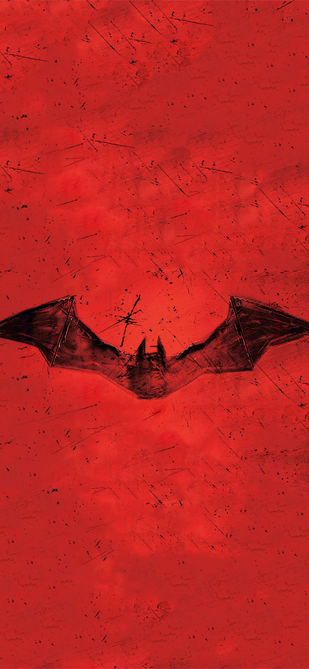 the batman 2021 red logo 8k iPhone 12 Wallpapers Free Download