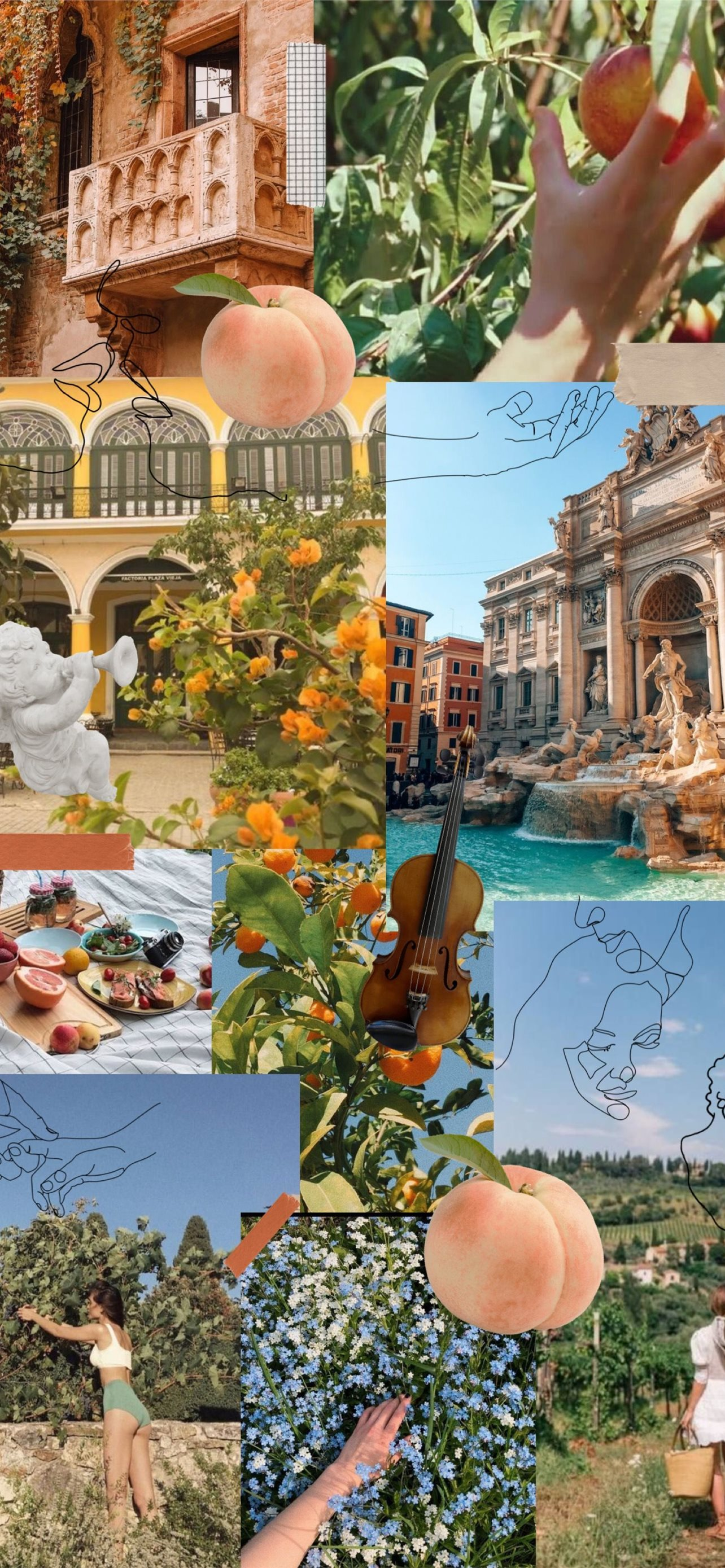 italy collage iPhone Wallpapers Free Download