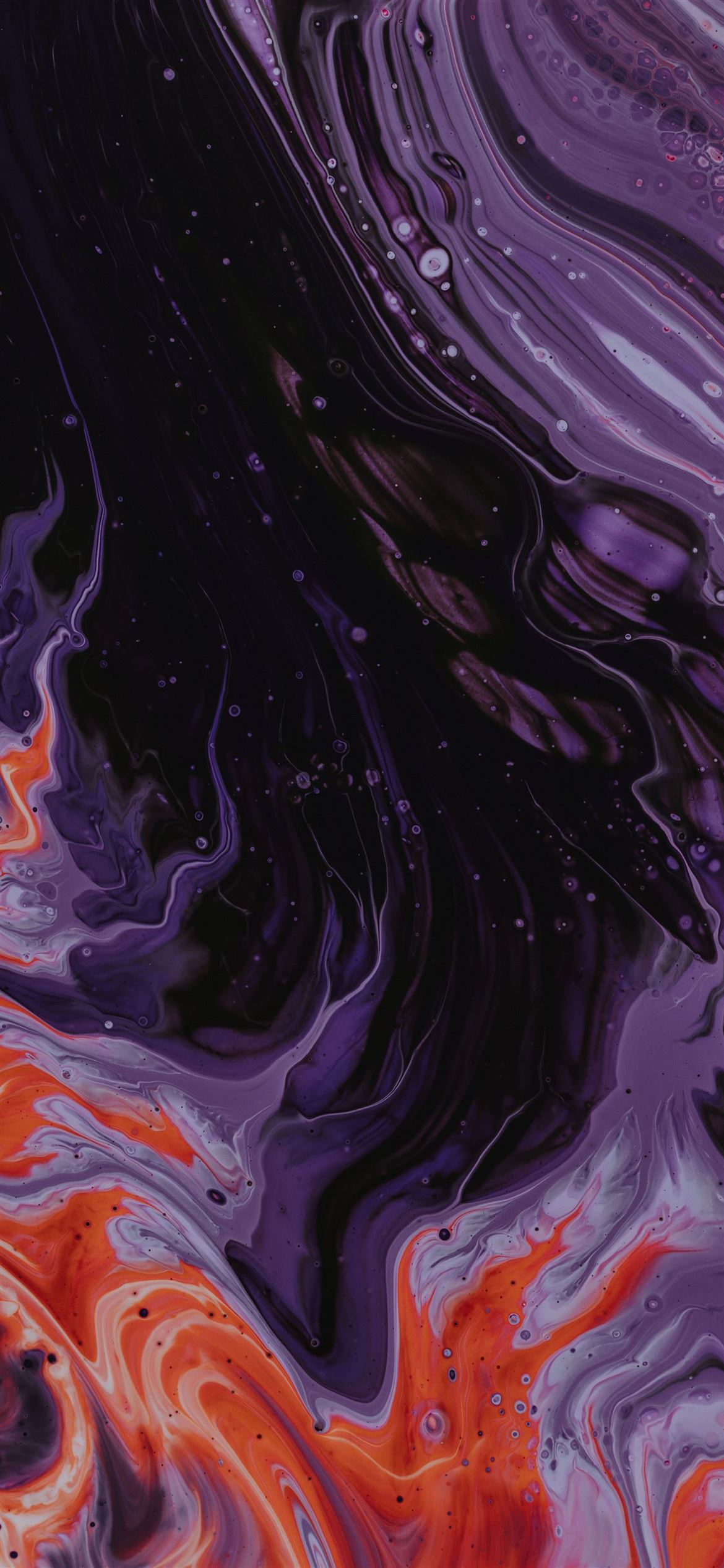 Purple Black And Orange Abstract Paintin Iphone 12 Wallpapers Free Download