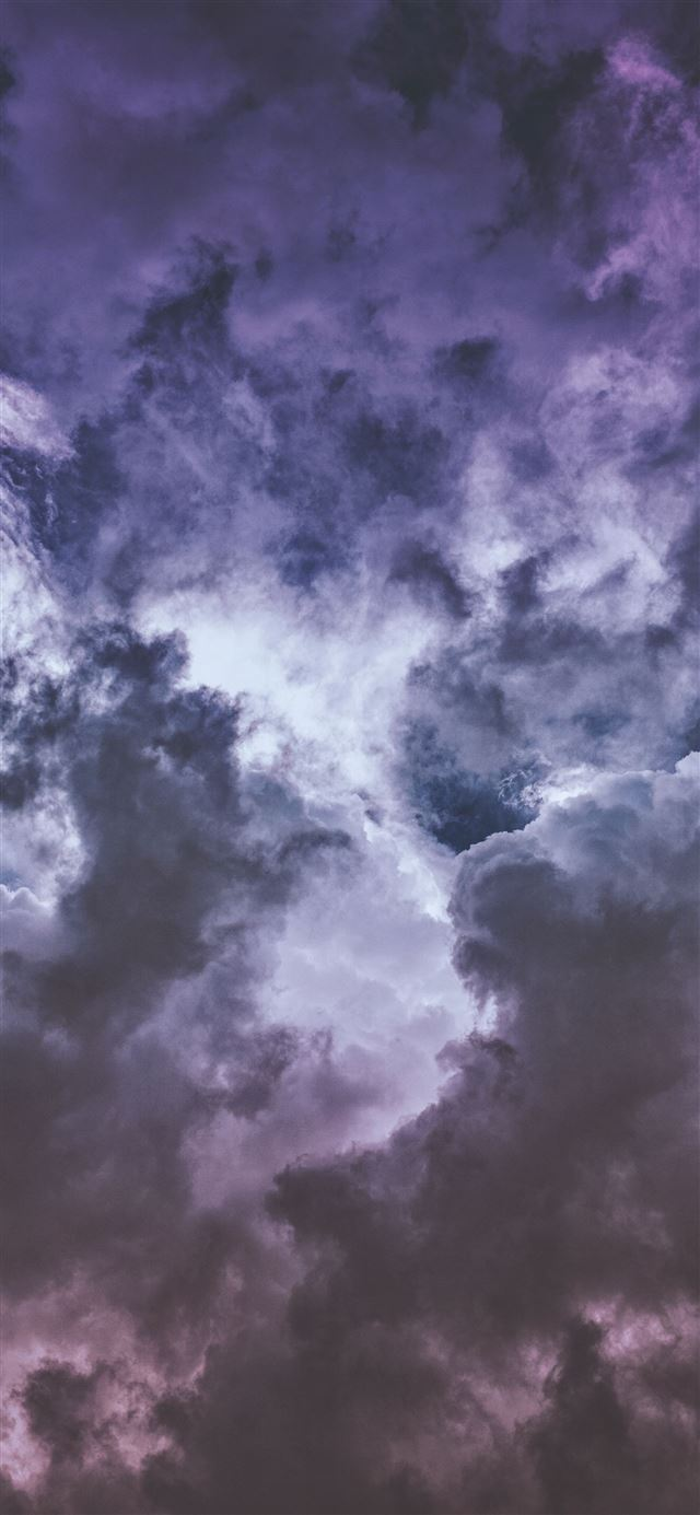 Wisteria clouds     iPhone 12 wallpaper