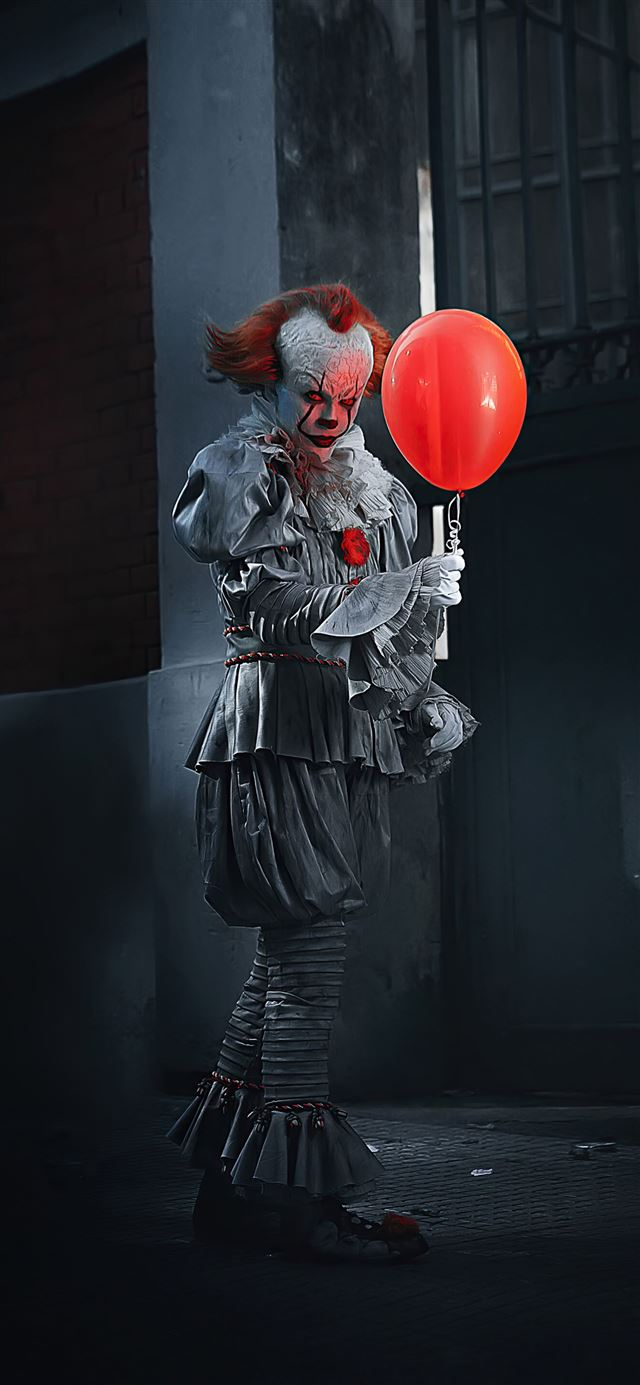 pennywise the clown it cosplay iPhone 12 wallpaper