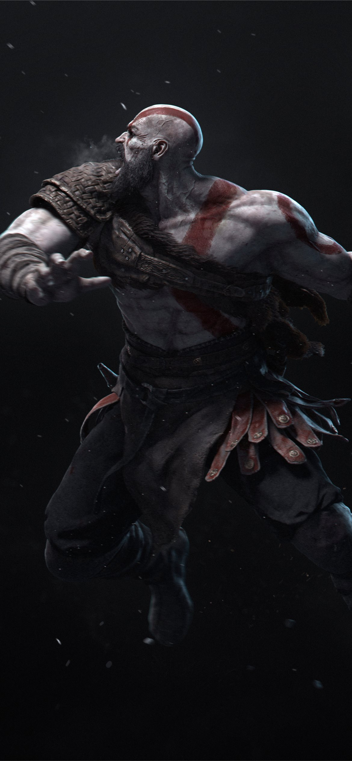 Kratos Hitting With Axe 4k Iphone 12 Wallpapers Free Download