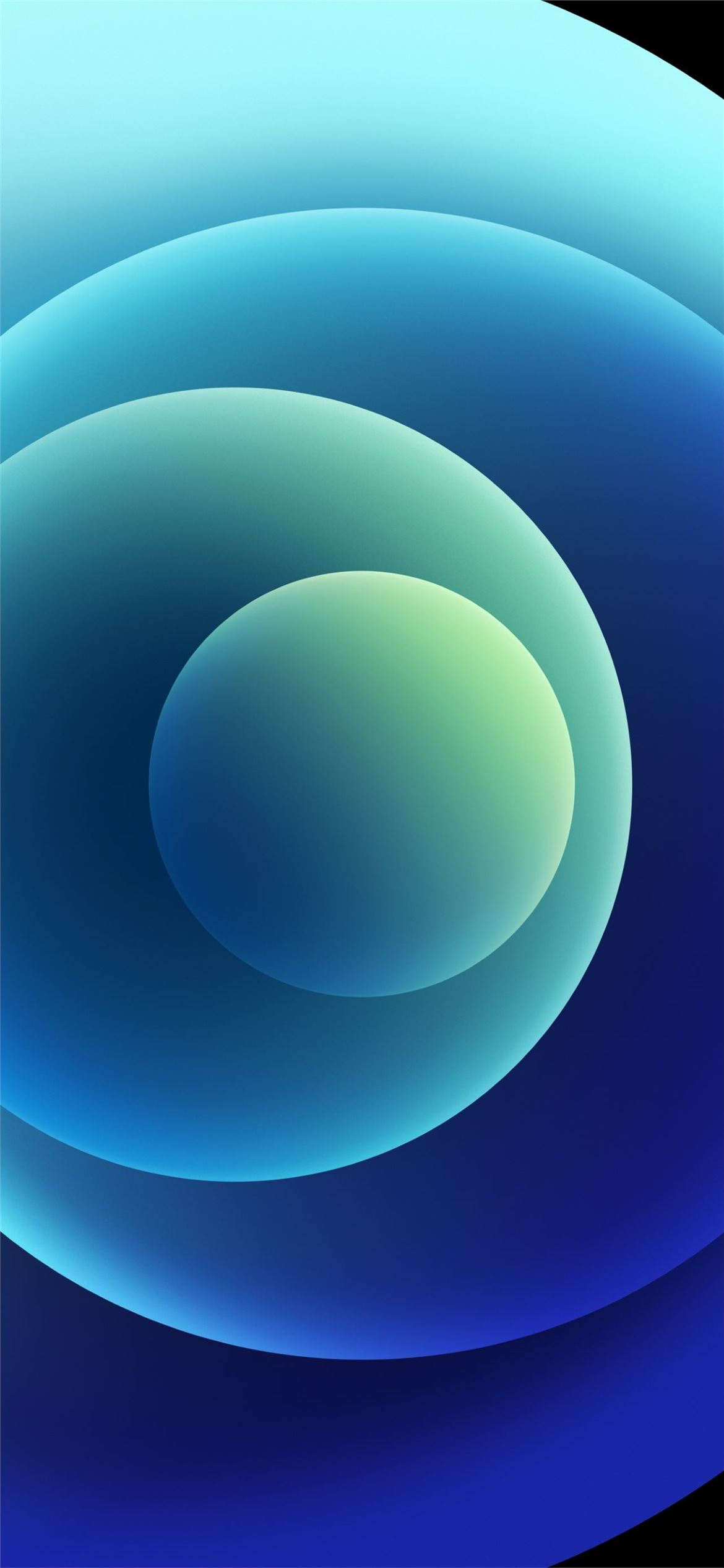 Colorful iPhone 12 Stock wallpaper Orbs Blue Light iPhone ...