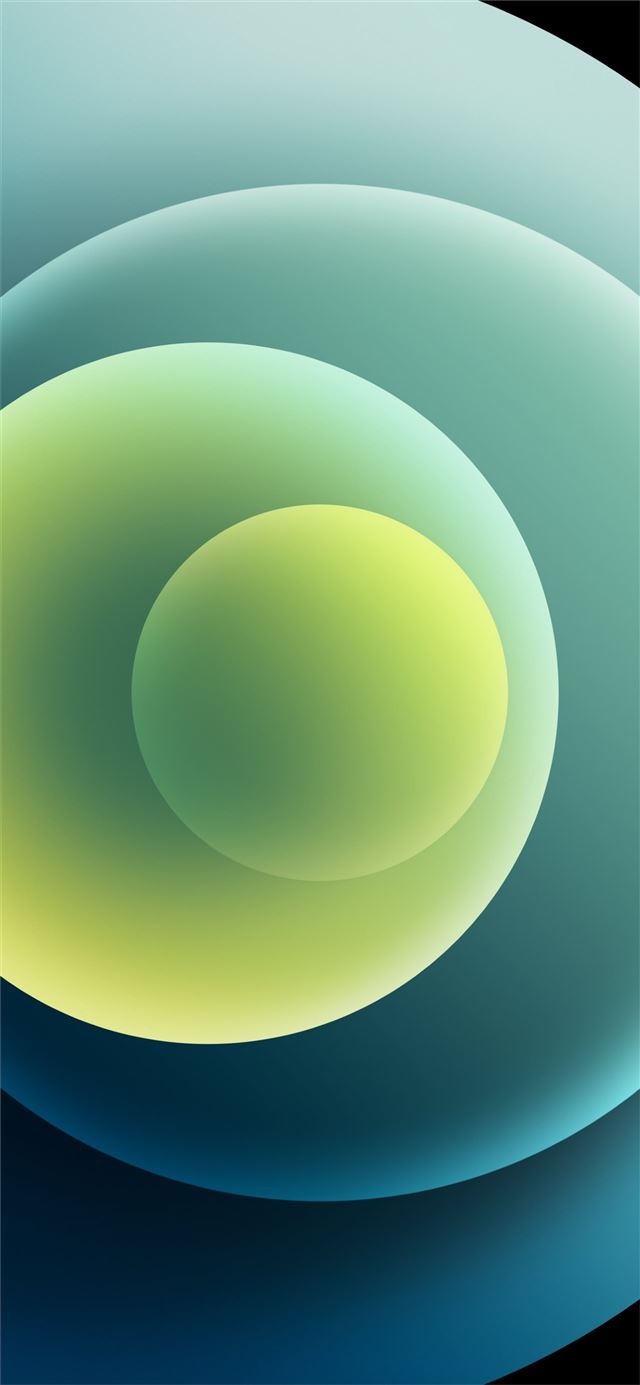 Colorful iPhone 12 Stock wallpaper Orbs Green Light iPhone 12 wallpaper