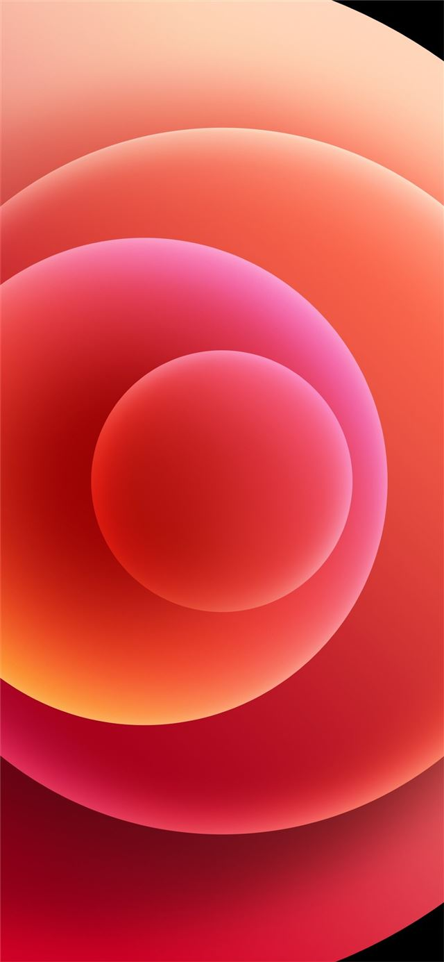 Colorful iPhone 12 Stock wallpaper Orbs Red Light iPhone 12 wallpaper