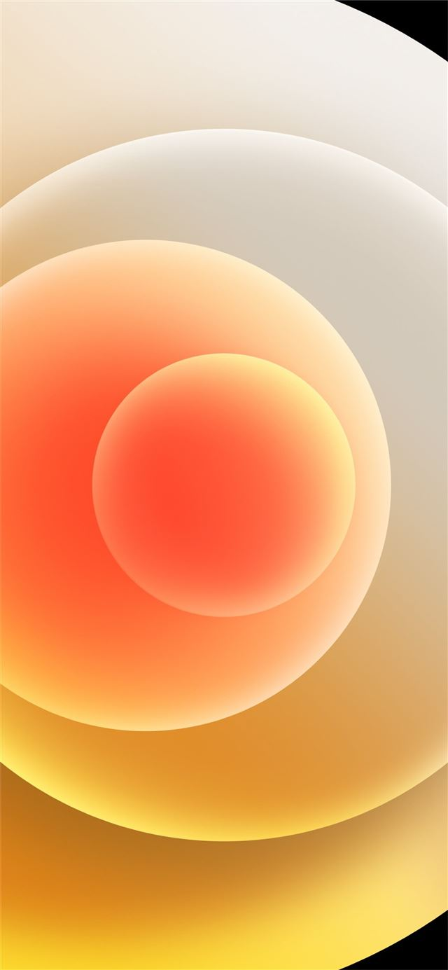 Colorful iPhone 12 Stock wallpaper Orbs Yellow Light iPhone 12 wallpaper