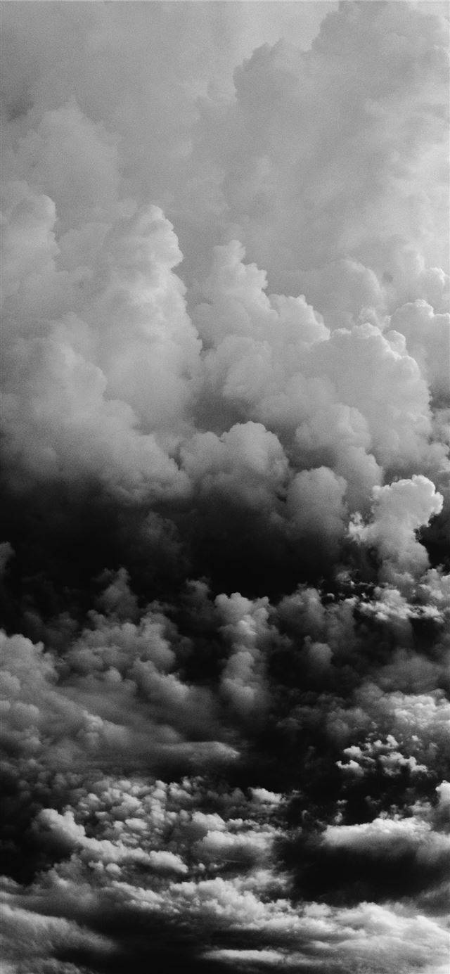 nimbus cumulus clouds iPhone 12 wallpaper