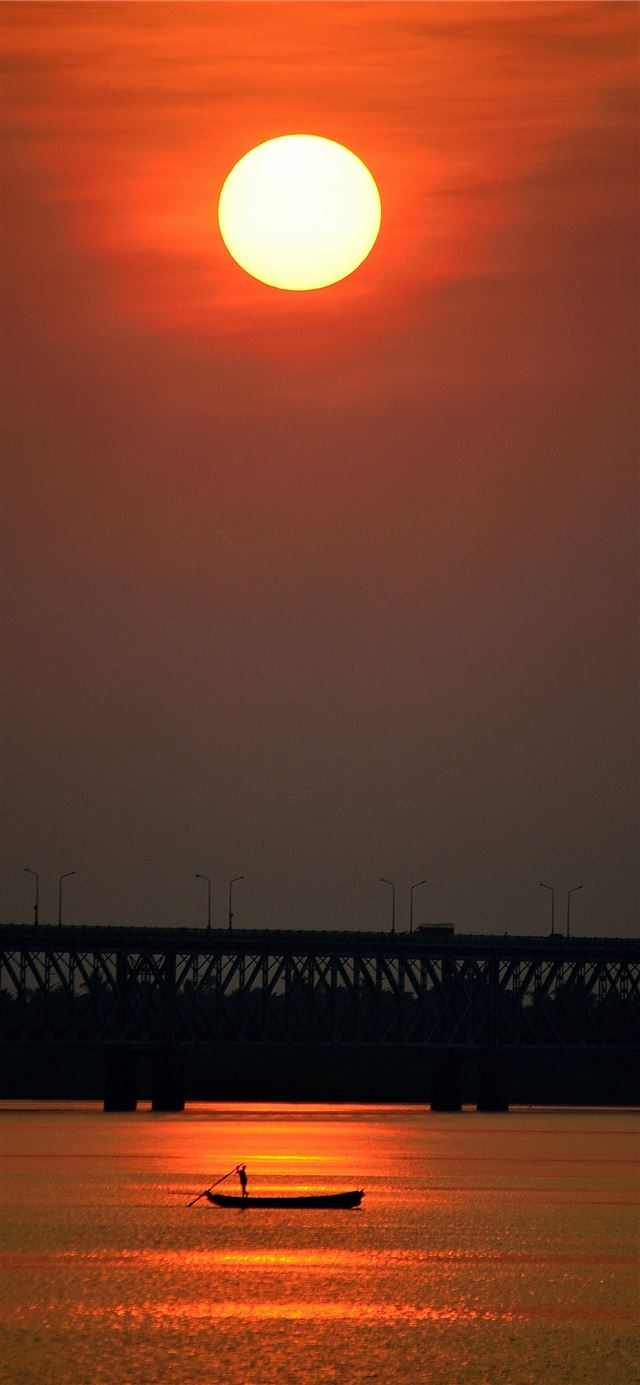 bridge under the sun iPhone 12 wallpaper