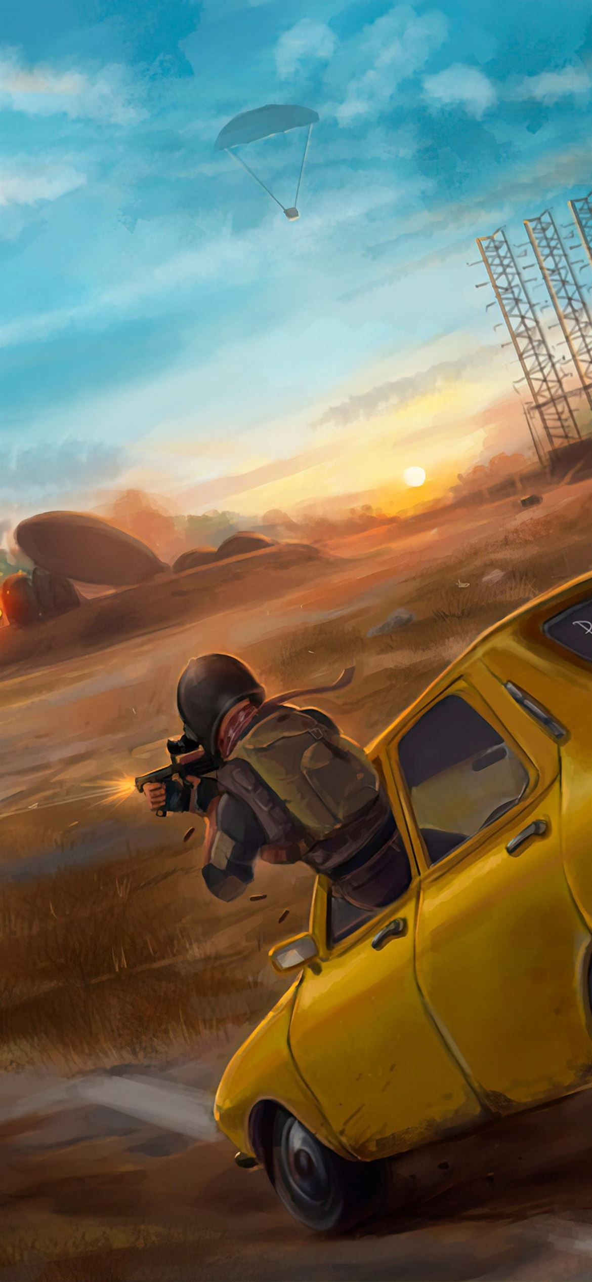 pubg car fight 4k iPhone Wallpapers Free Download