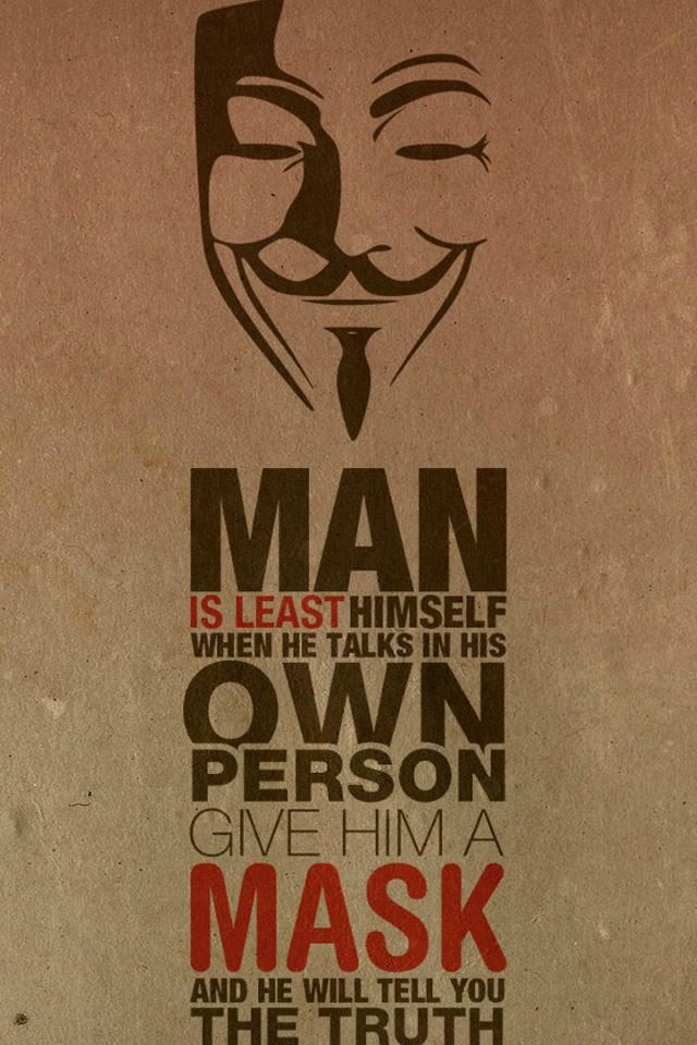 Anonymous iPhone 4s wallpaper