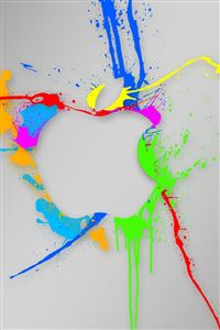 Paint Splash Apple iPhone 4s wallpaper