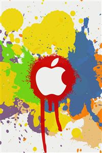 Apple Color Splash Effect iPhone 4s wallpaper