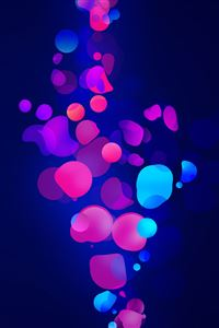 Blue pink shapes iPhone 4s wallpaper