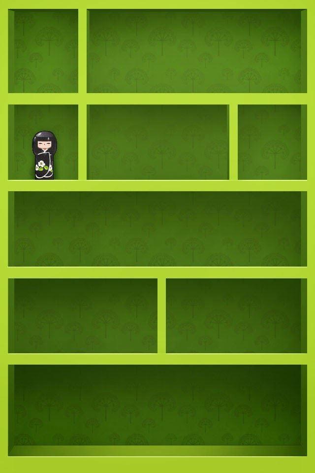 Green Shelf IPhone 4s Wallpaper