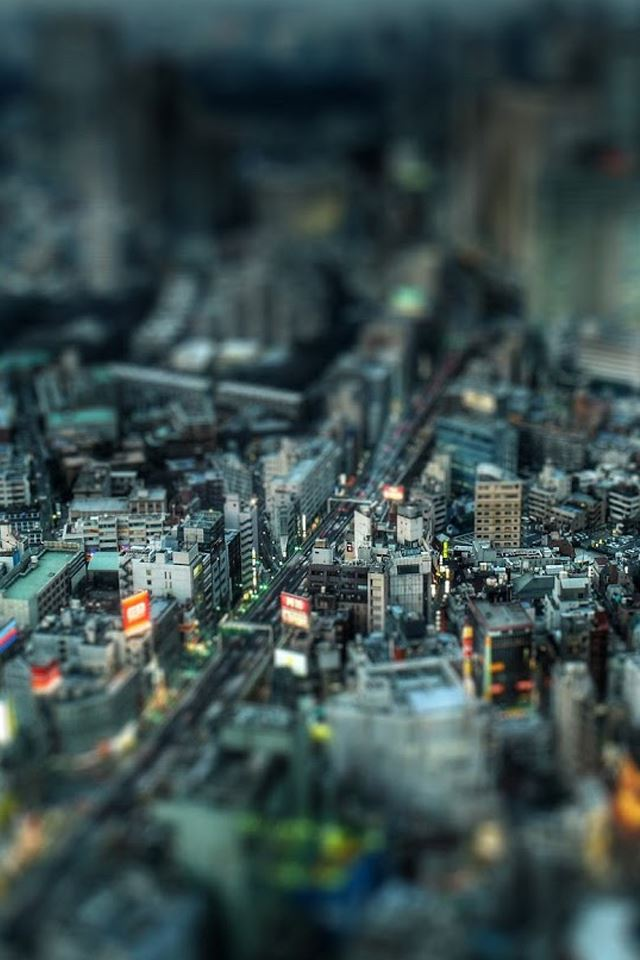 Dense urban Lens iPhone 4s wallpaper
