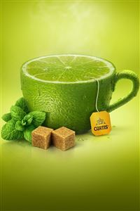 Lemon Tea iPhone 4s wallpaper